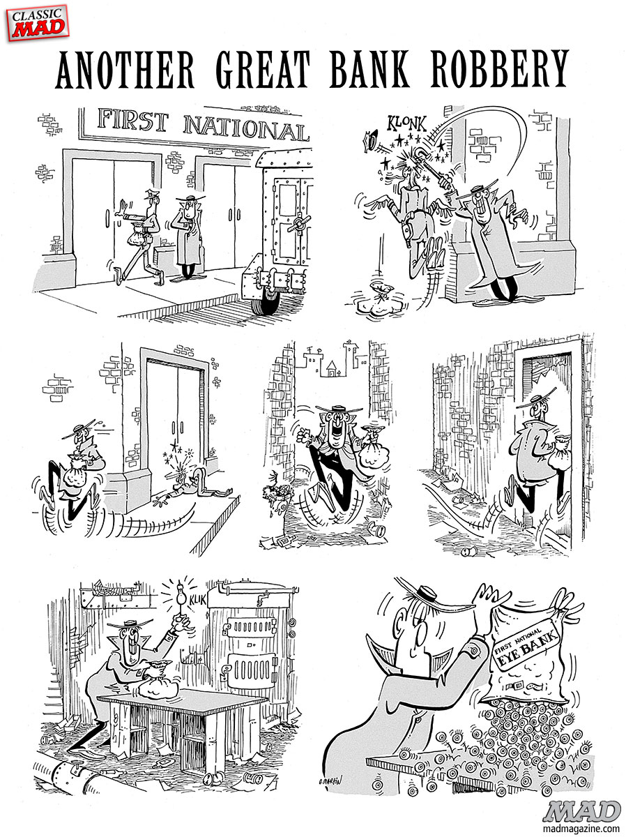 Classic MAD, Don Martin, Fonebone Friday, MAD #101, Bank Robbery