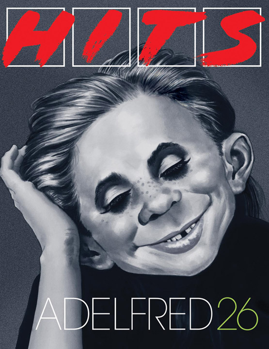 "mad magazine the idiotical Alfred E. Neuman as Adele on ""Hits"" Magazine Cover  Alfred E. Neuman, Adele, Hits, Hits Magazine, Magazine Covers, Sam Viviano, Music"