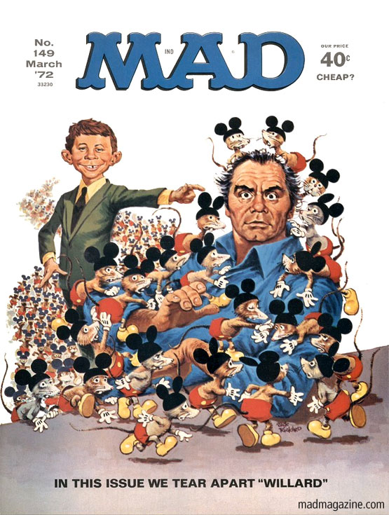 R.I.P. Ernest Borgnine, Actor Classic MAD, Ernest Borgnine, R.I.P., Movies, MAD Covers, Jack Rickard, Alfred E. Neuman, Willard