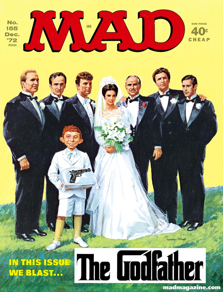 MAD Magazine Cover Issue #155 The Godfather Norman Mingo The Oddfather