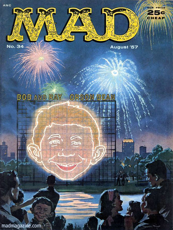 mad magazine the idiotical Happy Fourth of July from The Idiotical Holidays, MAD Covers, Norman Mingo, Fourth of July, Alfred E. Neuman mad 34