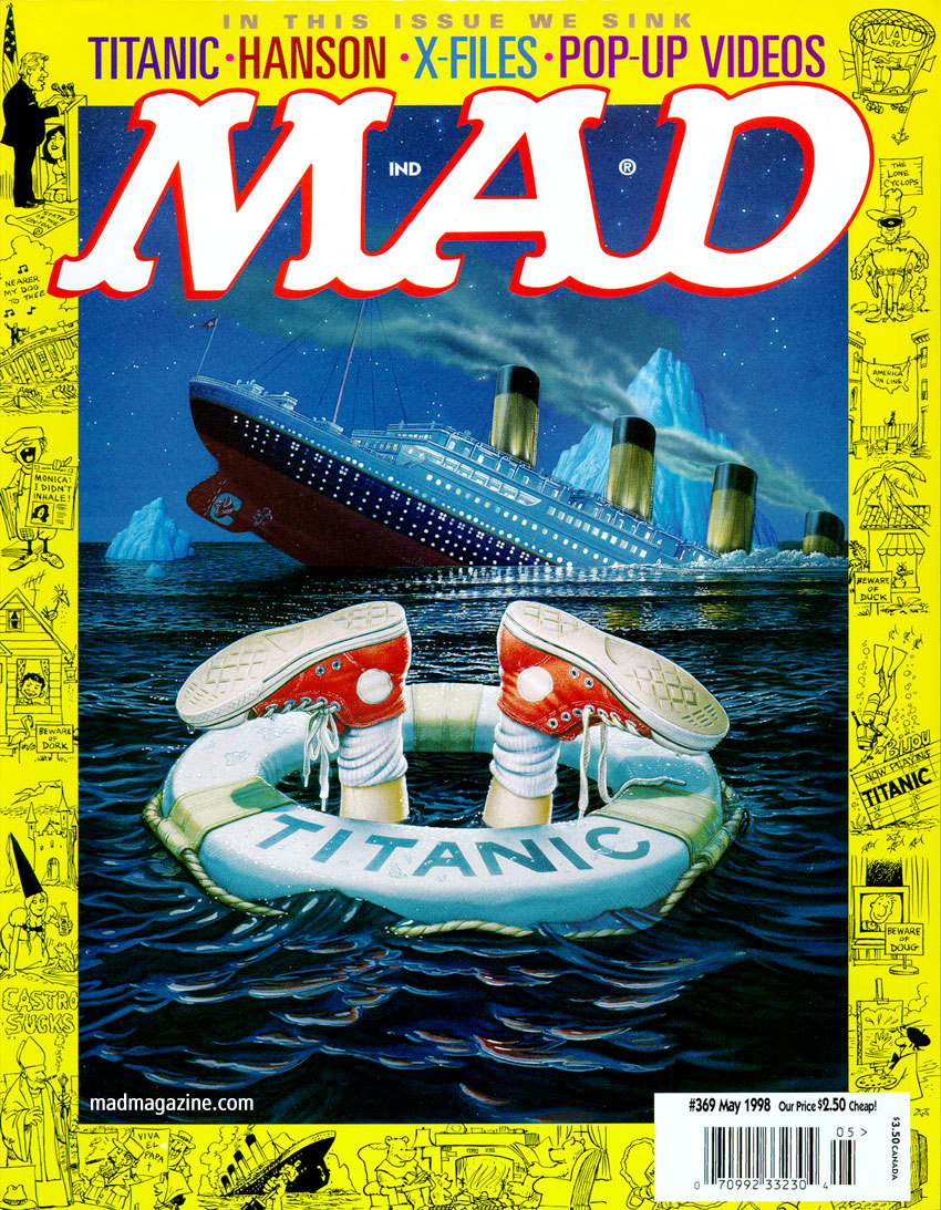 MAD Magazine 369 Titanic Cover Mike McGinty Angelo Torres