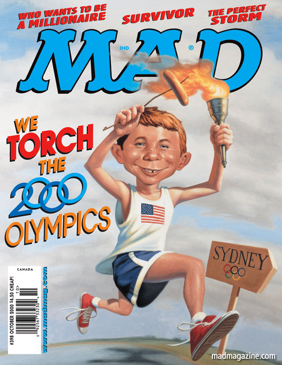 mad magazine the idiotical mad cover 498 MAD About the Olympics Classic MAD, MAD Covers, Alfred E. Neuman, James Bennett, Olympics, Sports