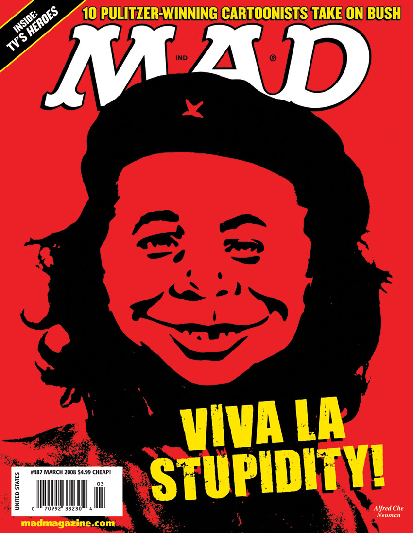 mad magazine the idioitcal Happy 85th Birthday, Che Guevara! Classic MAD, MAD Covers, MAD #487, Che Guevara, Cuba, Mexican Jumping Bean Record Leaps