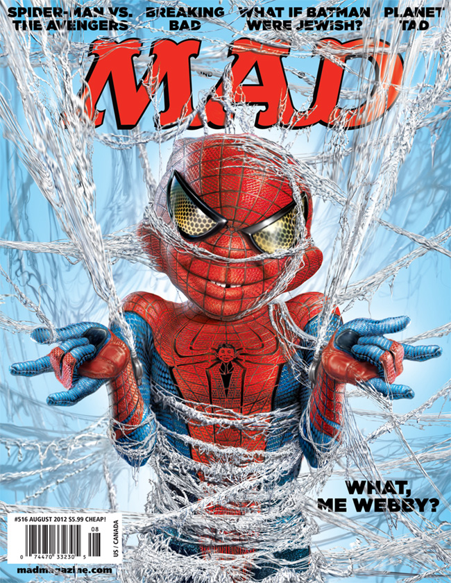 MAD Magazine 516 The Amazing Spider-Man Alfred E Neuman Mark Fredrickson The Idiotical