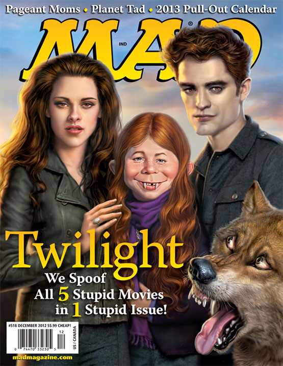 mad magazine the idiotical The MAD Twilight Cover MAD Covers, Twilight, Alfred E. Neuman, Mark Fredrickson, Movies, Edward Cullen, Bella Swan, Werewolves, Vampires, Robert Pattinson, Kristin Stewart