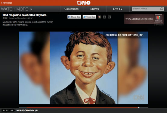 mad magazine the idiotical CNN Video About MAD's 60th Anniversary MAD Events, 60th Anniversary, MAD's 60th Anniversary, John Ficarra, CNN, Totally MAD