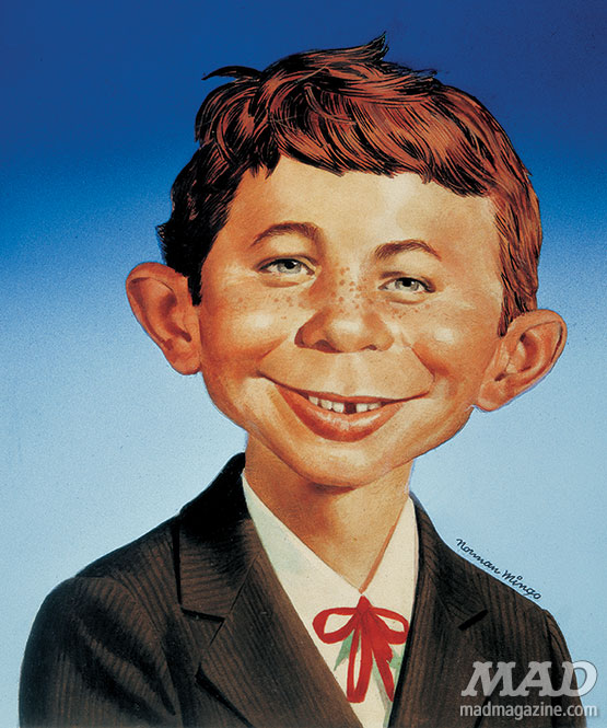 mad magazine the idiotical alfred e neuman norman mingo