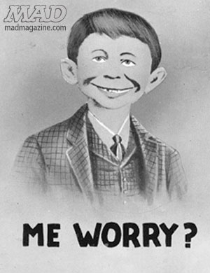 mad magazine the idiotical alfred e neuman postcard