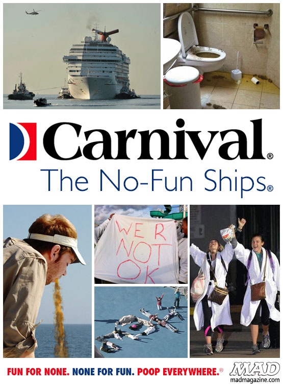 mad magazine the idiotical New Ad Reflects the Reality of a Carnival Cruise Idiotical Originals, Society & Culture, Carnival Cruise, The Dream, Ad Parodies