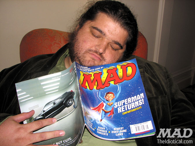 MAD Magazine Celebrity Snap Jorge Garcia Asleep Alcatraz Lost Superman Cover