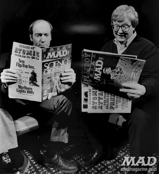 mad magazine the idiotical Celebrity Snaps: Gene Siskel and Roger Ebert at the movies