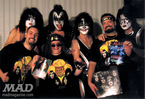 MAD Magazine Celebrity Snaps KISS Gene Simmons Ace Frehley Paul Stanley Peter Criss