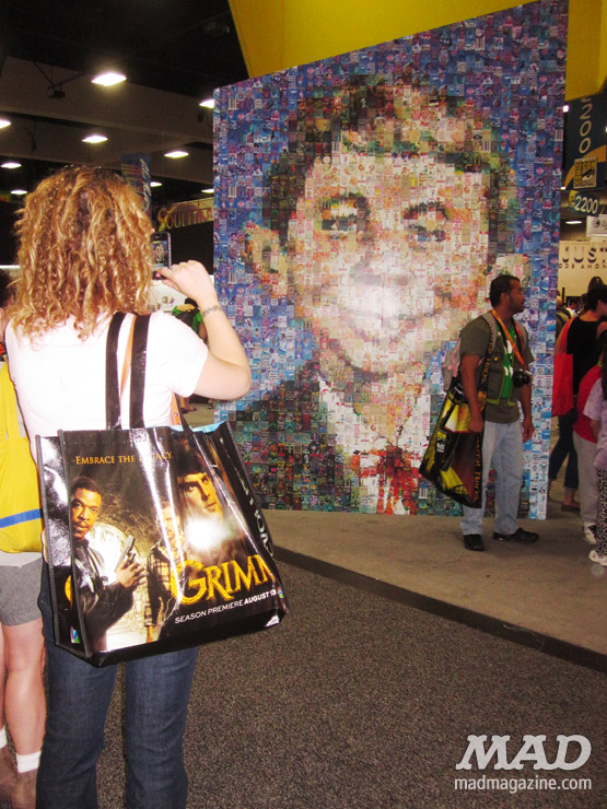 MAD Magazine SDCC2012 Booth-Alfred Mosaic