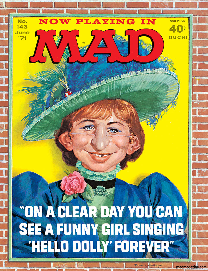 Classic MAD, MAD Covers, Barbra Streisand, Funny Girl, Norman Mingo