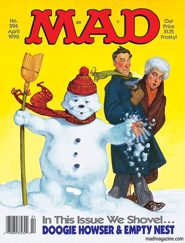 Classic MAD, MAD Covers, Snow, Weather, Nemo, Alfred E. Neuman, Snowman, Richard Williams, Storm, Blizzard, MAD #294, A Bug's Life 2: The College Years