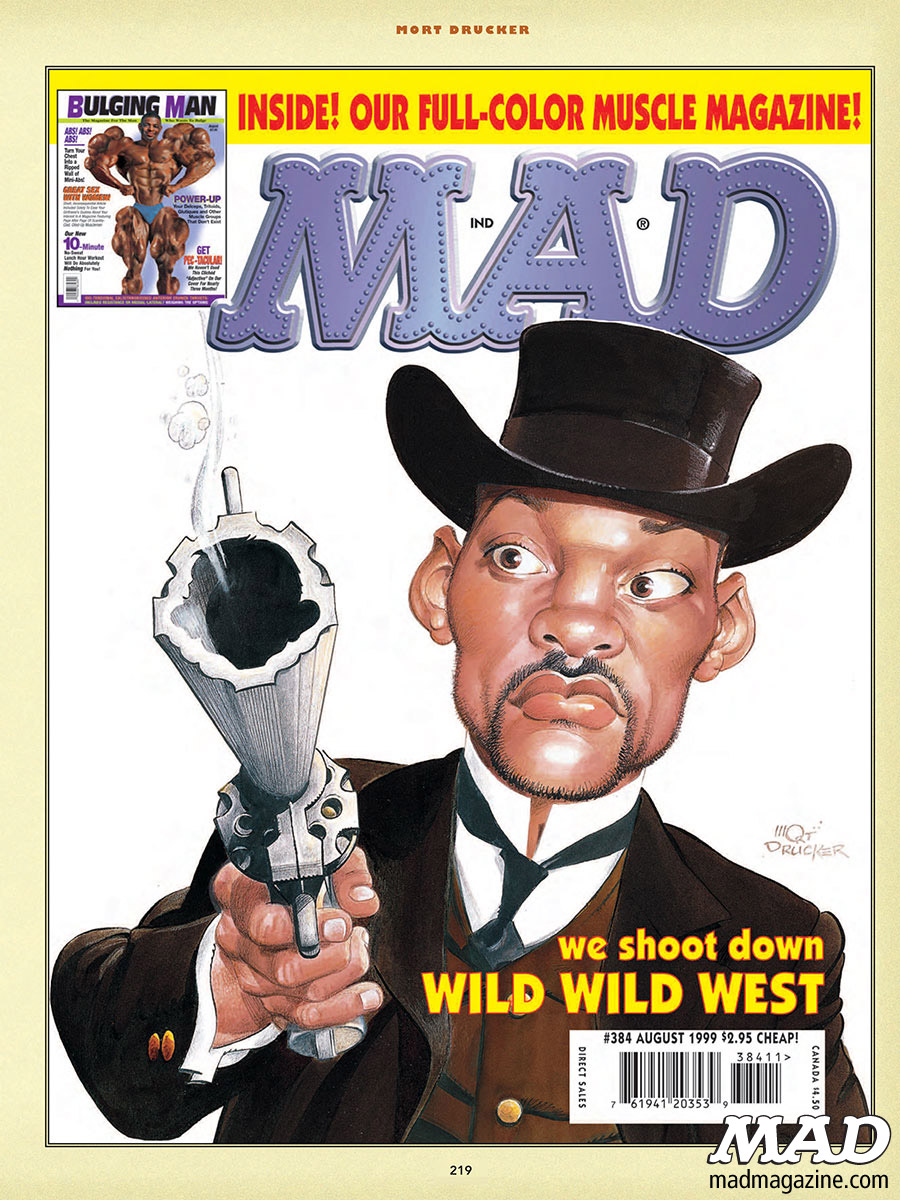 "mad magazine the idiotical ""MAD's Greatest Artist: Mort Drucker"" Coming Soon! MAD Books, Mort Drucker, MAD's Greatest Artists, Movie and TV Satires, Movies, TV, Caricatures, Artists, Artist Spotlight, Michael J. Fox, J.J. Abrams, Frank Darabont, George Lucas, Steven Spielberg will smith wild wild west"