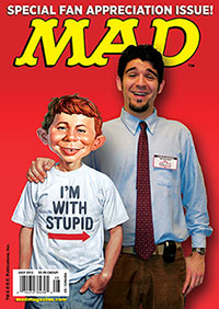mad magazine the idiotical alfred e neuman fan appreciation cover dave croatto nycc new york comic con greenscreen