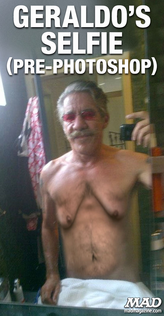 mad magazine the idiotical Geraldo's Selfie (Pre-Photoshop) Idiotical Originals, Television, Cable News, Selfie, Geraldo Rivera, Fox News, Man Boobs, Bloomin' Onion Diet Plan