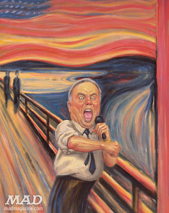MAD Magazine Howard Dean Scream Edvard Munch James Warhola The Idiotical