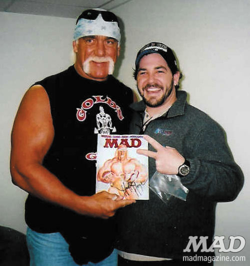 MAD Magazine Celebrity Snaps Hulk Hogan Wrestling WWE WWF The idiotical