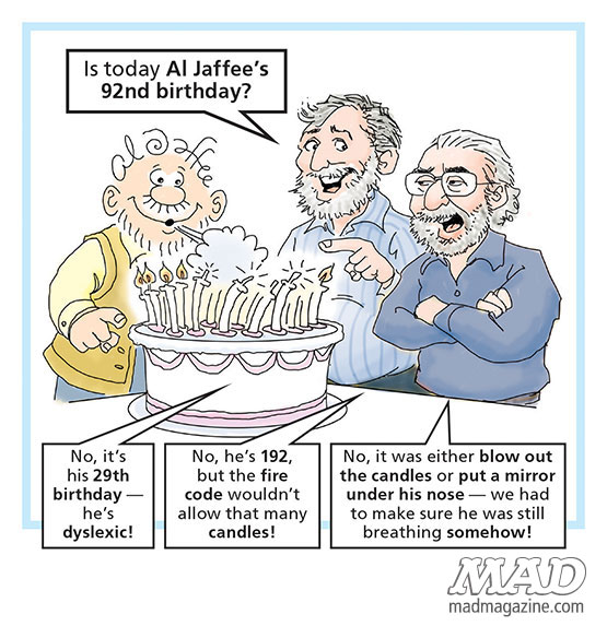 mad magazine the idiotical Is This a Post About Al Jaffee's 92 Birthday? Idiotical Originals, MAD Events, Al Jaffee, Birthdays, Snappy Answers to Stupid Questions, Lithuanian Travel Tips
