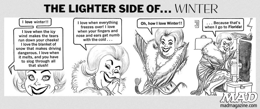 MAD Books, Dave Berg, The Lighter Side Of, MAD's Greatest Artists, Winter