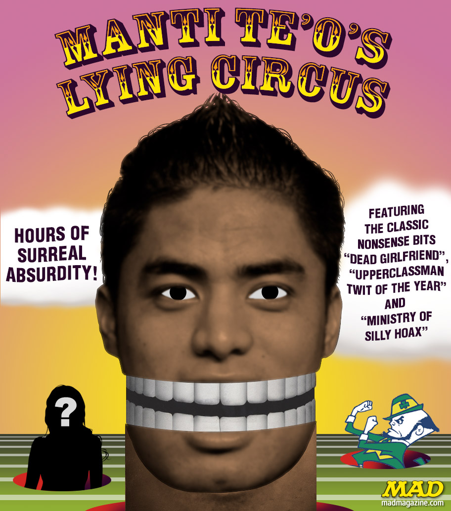 MAD Magazine Manti Te'o's Lying Circus
