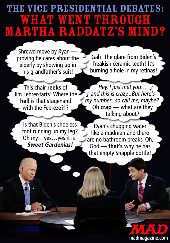 Idiotical Originals, Politics, Paul Ryan, Joe Biden, Vice President Debates, Martha Raddatz, 2012 Elections, GOP, Republican, Democrat, Hat Blocking