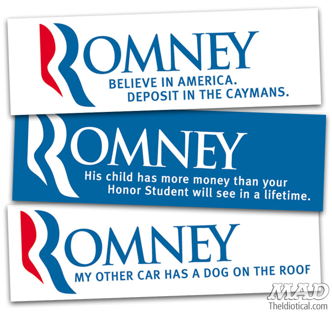 Political Campaign Bumper Stickers