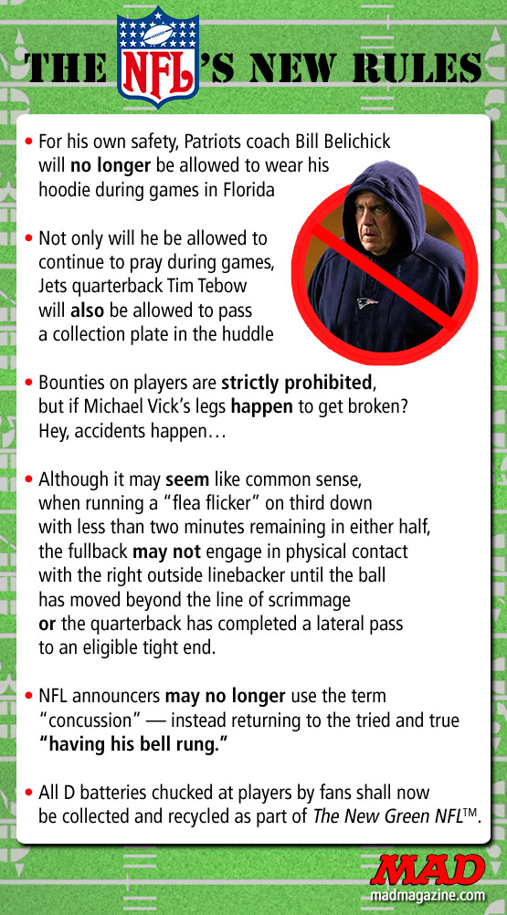 Mad Magazine New NFL Rules