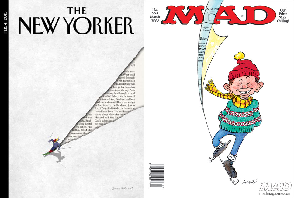 mad magazine the idiotical The New Yorker Rips Off MAD? MAD Covers, The New Yorker, Magazines, Sergio Aragonés, MAD #293, Affordable Chapped-Lip Surgery Options