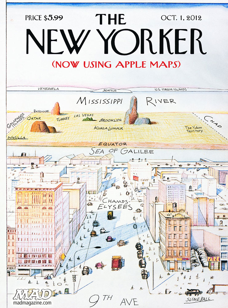 MAD Magazine NewYorker View 2012