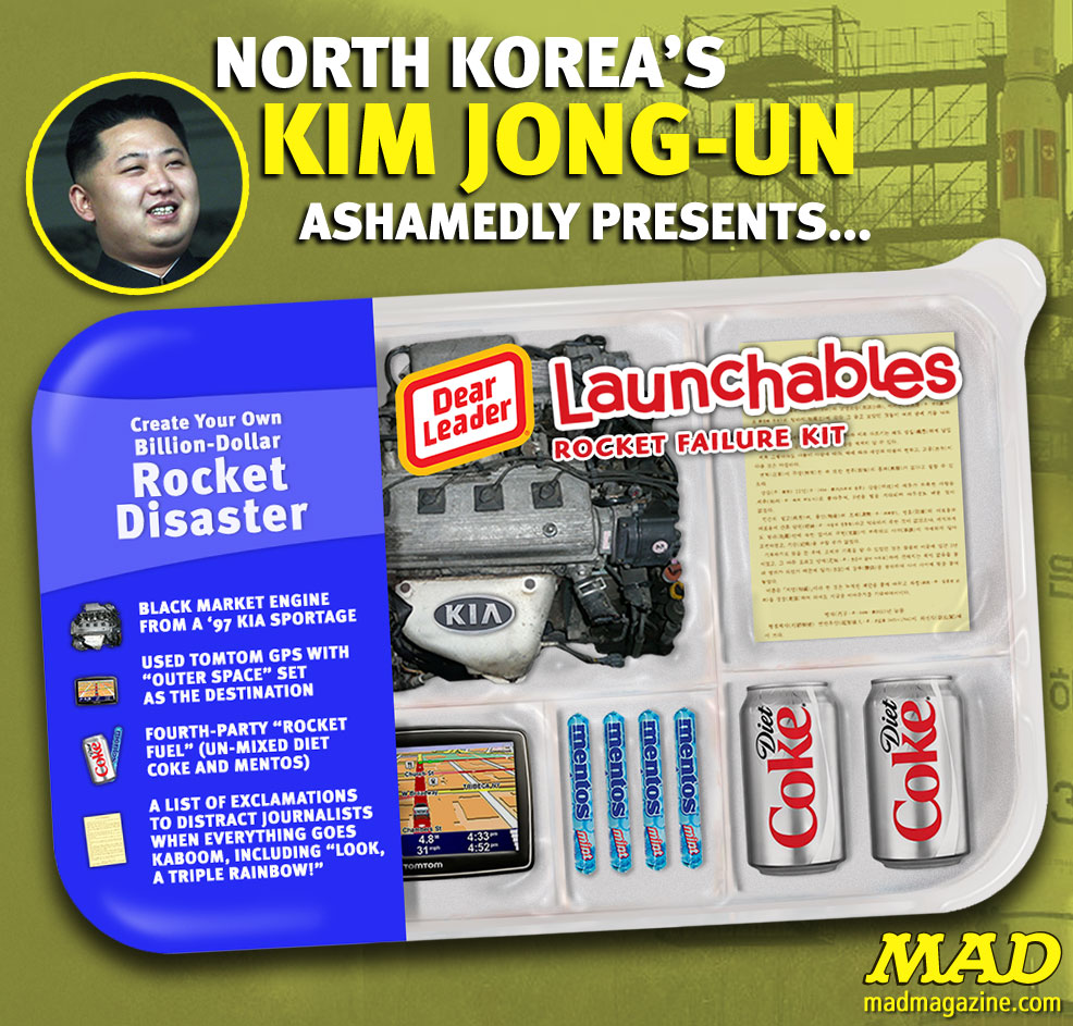MAD Magazine North Korea's Failure Kit The idiotical kim jong un