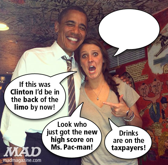 MAD Magazine Obama Dive Bar Girl What Was She Thinking Madalyn Starkey Barack Obama The idiotical