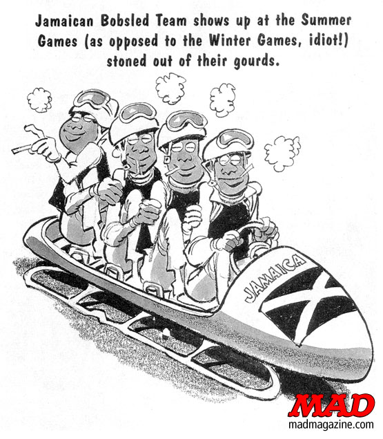 mad magazine the idiotical MAD About the Olympics: Olympic Moments We're Sure to See Classic MAD, Sports, Olympics, Jack Davis, Mike Snider, MAD #347, Howard Stern, MAD About the Olympics, Jamaican Bobsledding Team,