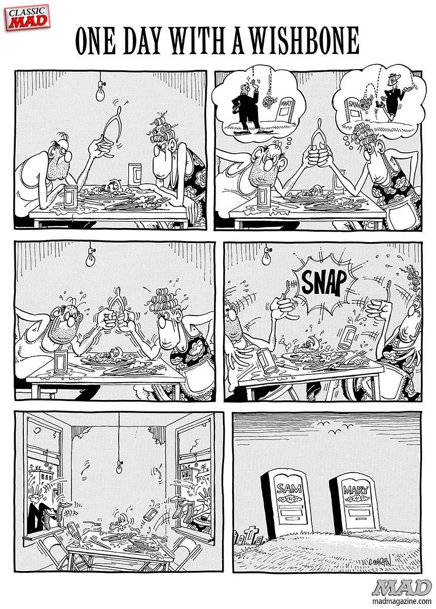 MAD Magazine, Classic MAD, Fonebone Friday, Don Martin, Wishbone, MAD #160