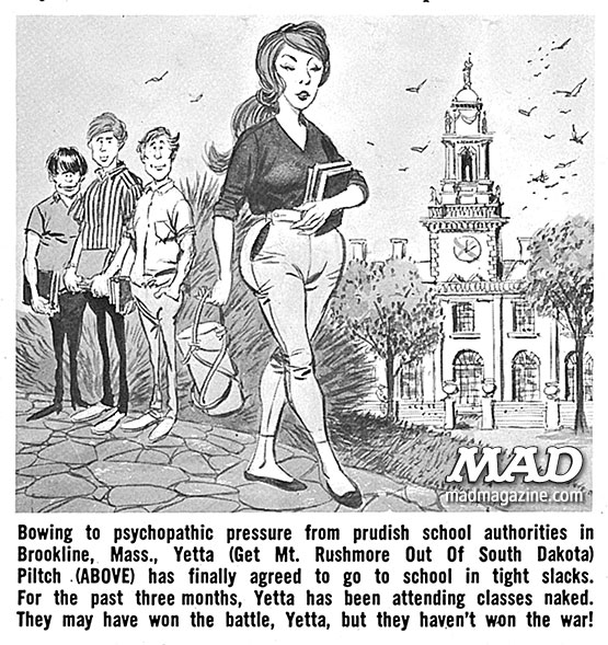 "mad magazine the idiotical ""Totally MAD"" Excerpt: Has MAD Ever Been Sued? cynthia pilch protest magazine george woodbridget jack albert"