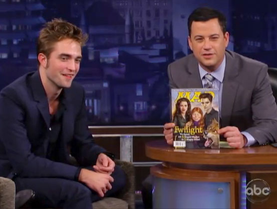 mad magazine the idiotical MAD Meets Robert Pattinson on Jimmy Kimmel Live Television, MAD Events, Robert Pattinson, Jimmy Kimmel, Kristen Stewart, Jimmy Kimmel Live, Twilight