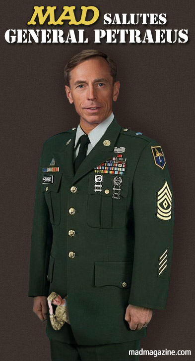 mad magazine the idiotical MAD Salutes General David Petraeus Idiotical Originals, Politics, Scandal, David Petraeus, Paula Broadwell, All In, United States Army, Military, Army, CIA, Olden Polynice Rookie Card