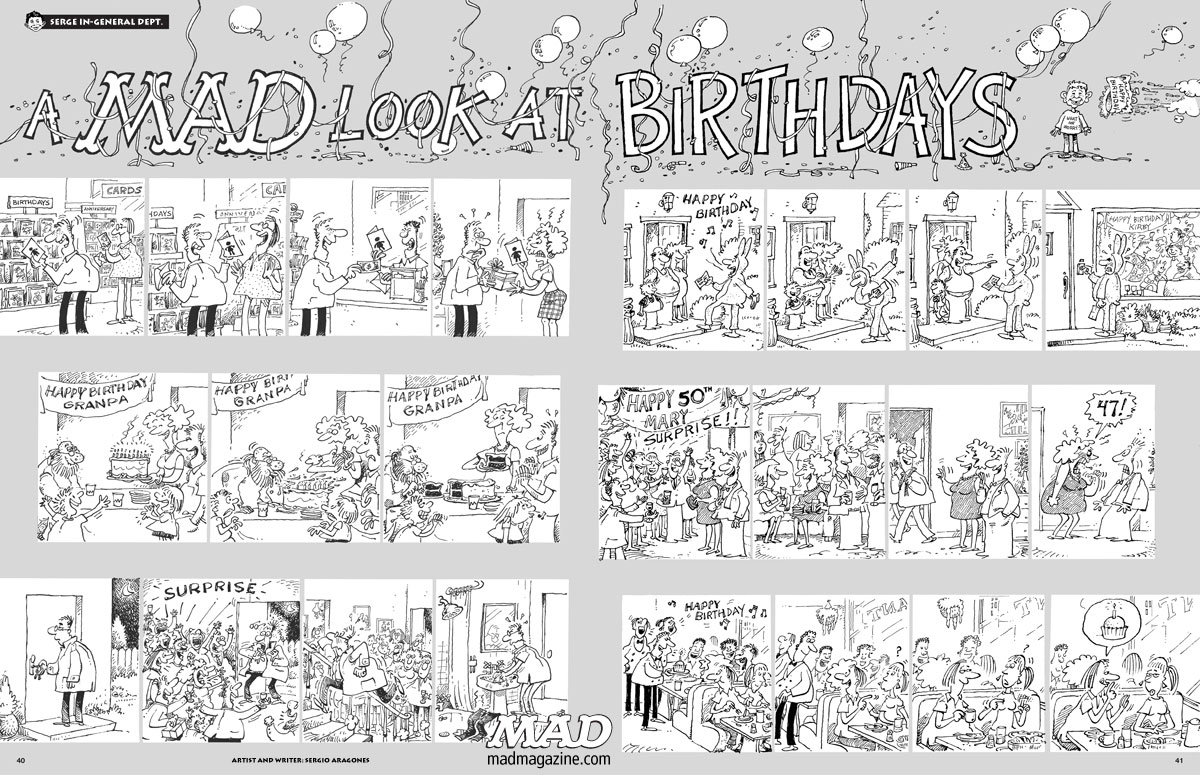 mad magazine the idiotical a mad look at birthdays sergio aragones