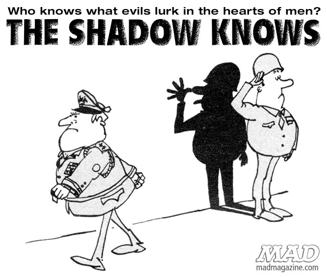 The Shadow Knows, Sergio Aragones, Military, MAD #107