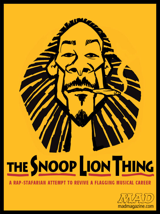 "mad magazine the idiotical The Snoop Lion Thing Idiotical Originals, Hip Hop, Music, Snoop Lion, Snoop Dogg, MAD Posters, ""Highlander II: The Quickening"" Fan Fiction"
