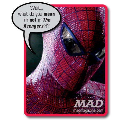 "mad magazine the idiotical Less-Than-Amazing Outtakes from ""The Amazing Spider-Man"" Movies, </body></html>"