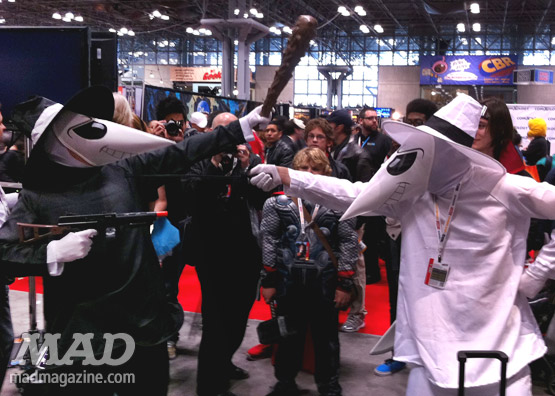 mad magazine the idiotical new york comic con spy vs spy cosplay