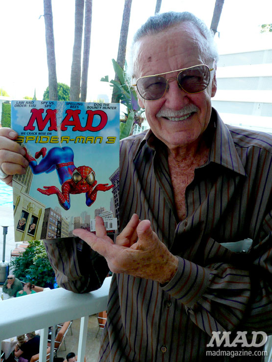 mad magazine the idiotical Celebrity Snaps: Stan Lee — An Idiotical Exclusive! Celebrity Snaps, Stan Lee, Spider-Man, The Amazing Spider-Man, Movies, Comic Books