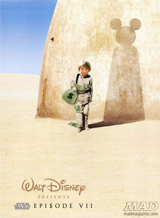 mad magazine the idiotical Star Wars Episode VII Poster Revealed! Idiotical Originals, Star Wars, Disney, Lucasfilm, Mickey Mouse, Movies, Posters, MAD Posters, Entertainment, George Lucas, Anakin Skywalker, Darth Vader, Acquisitions,