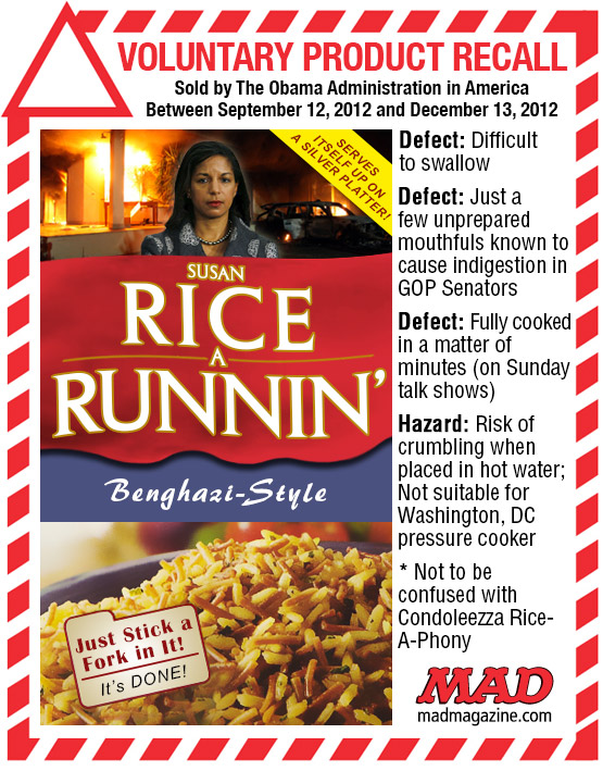 MAD Magazine Susan Rice a Runnin