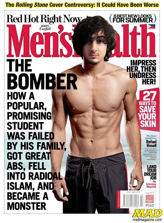Idiotical Originals, Society & Culture, Crime, Boston, Marathon, Bombing, Dzhokhar Tsarnaev, Tamerlan Tsarnaev, Rolling Stone, Magazine, Cover, Controversy, Mushroom Risotto in Competitive Eating