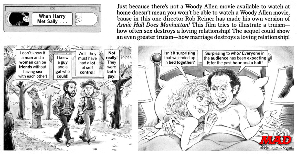 mad magazine the idiotical when harry met sally nora ephron rob reiner sam viviano billy crystal stan hart meg ryan